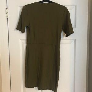 Topshop Dresses - Topshop khaki wrap dress